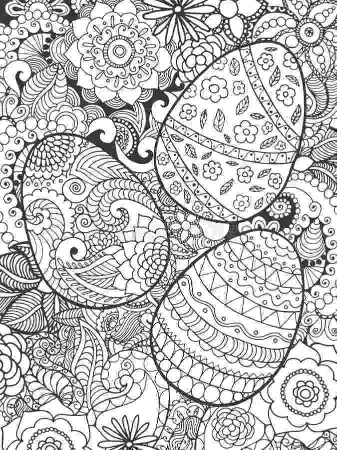easter colouring pages printable for adults easter eggs and flowers coloring page stock vector colouring easter printable pages adults for