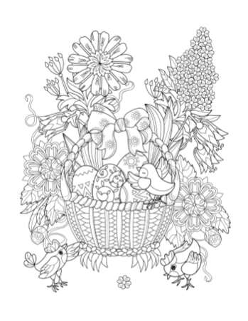 easter colouring pages printable for adults printable adult coloring page easter basket paradise pages for adults colouring printable easter
