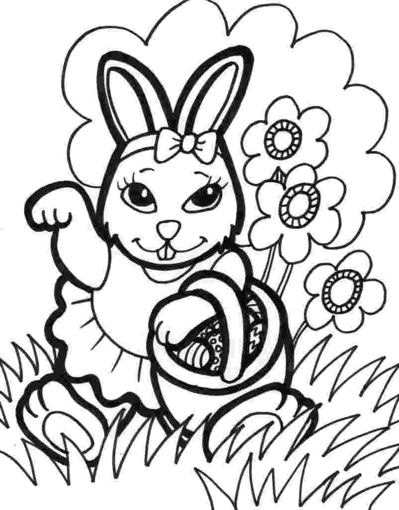 easter colouring pics free printable easter bunny coloring pages for kids colouring easter pics