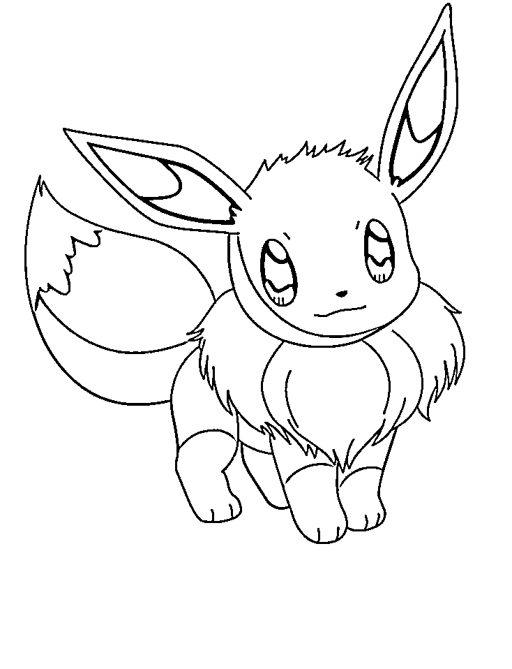 eevee printable coloring pages pokemon coloring page eevee coloring pics coloring home pages printable eevee coloring