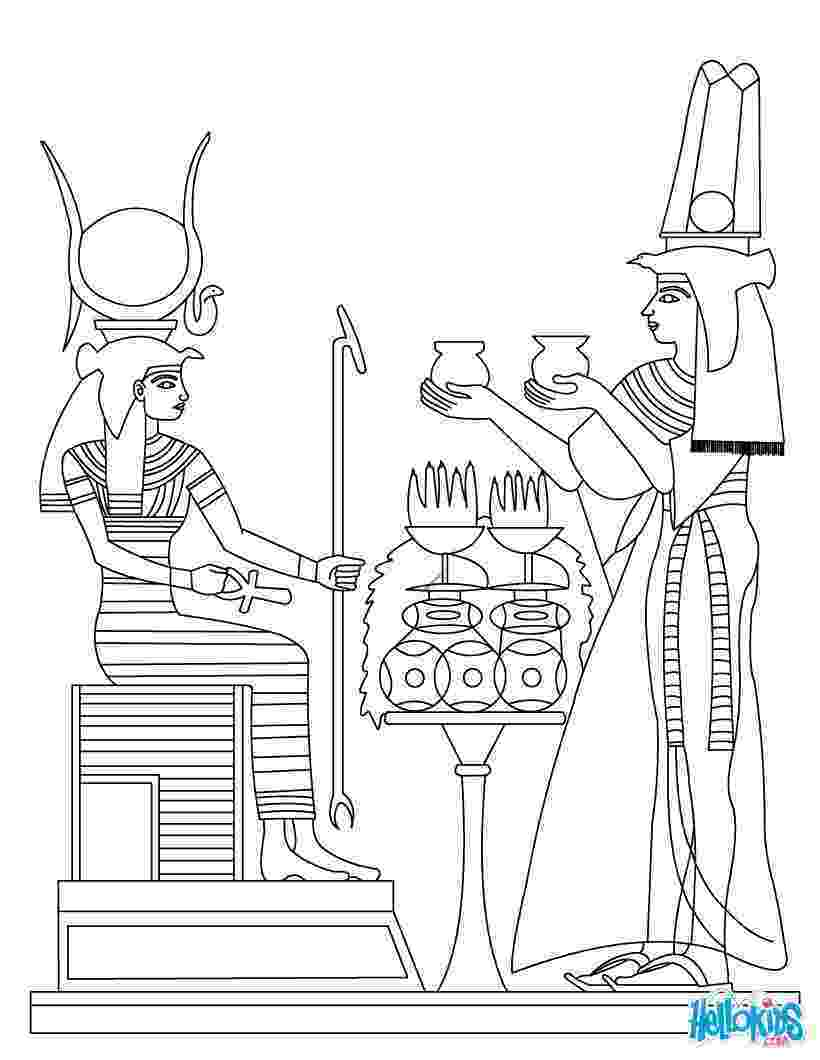 egypt coloring pages horus and nefertiti deities coloring pages hellokidscom coloring pages egypt