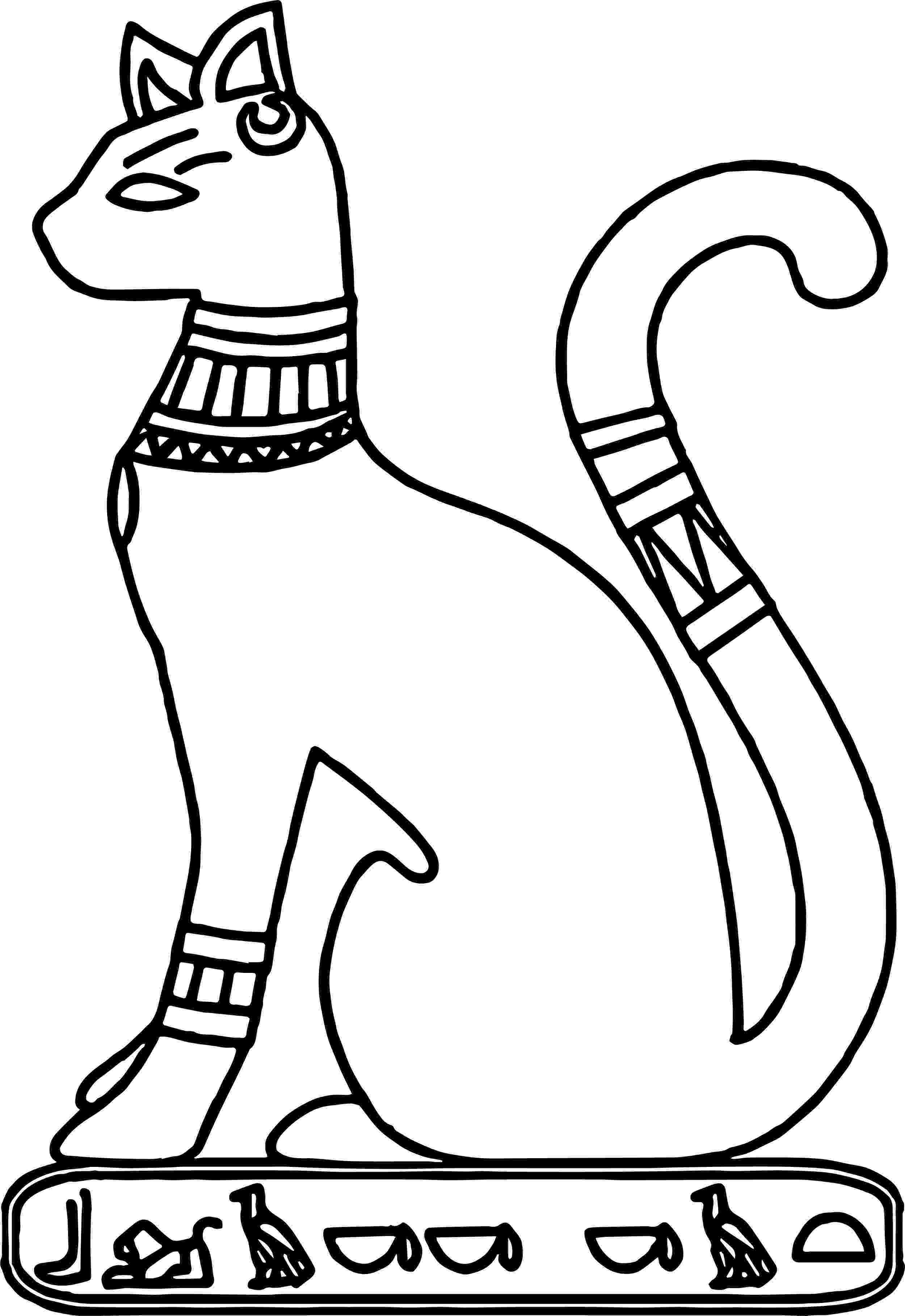 egyptian coloring pages egyptian cat tattoo coloring page download free egyptian pages coloring egyptian