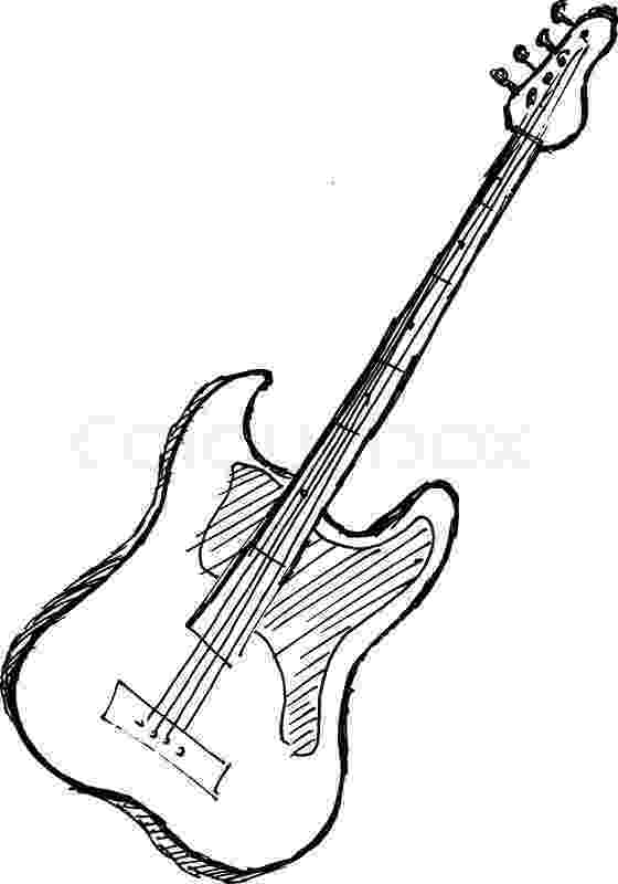 electric guitar sketch electric guitar outline stock illustrations 1557 electric sketch guitar
