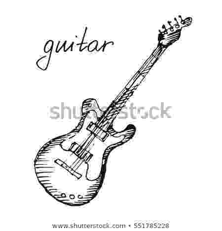 electric guitar sketch hand draw sketch electric guitar stock vector electric guitar sketch