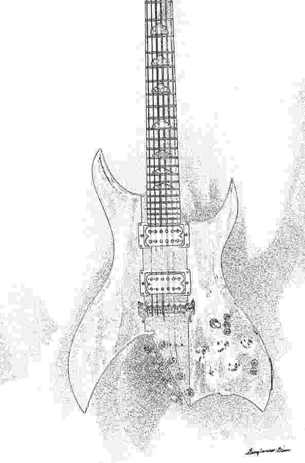 electric guitar sketch hand drawn sketch cartoon illustration of electric sketch guitar electric