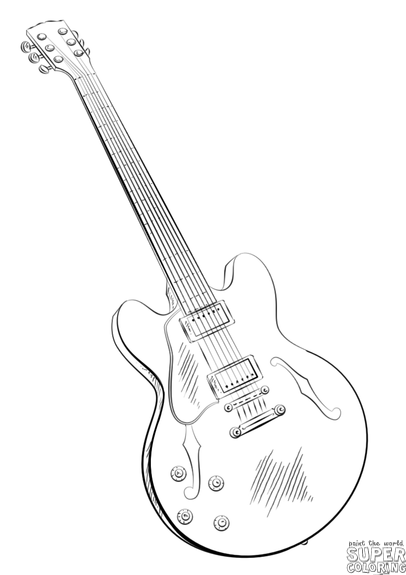 electric guitar sketch how to draw an electric guitar step by step string sketch electric guitar