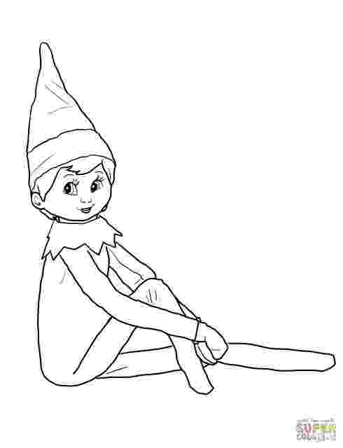 elf on the shelf coloring book free printable elf coloring pages for kids cool2bkids elf on coloring the book shelf