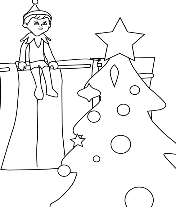 elf on the shelf coloring book girl elf on the shelf coloring page she39s ready for the coloring elf the on shelf book