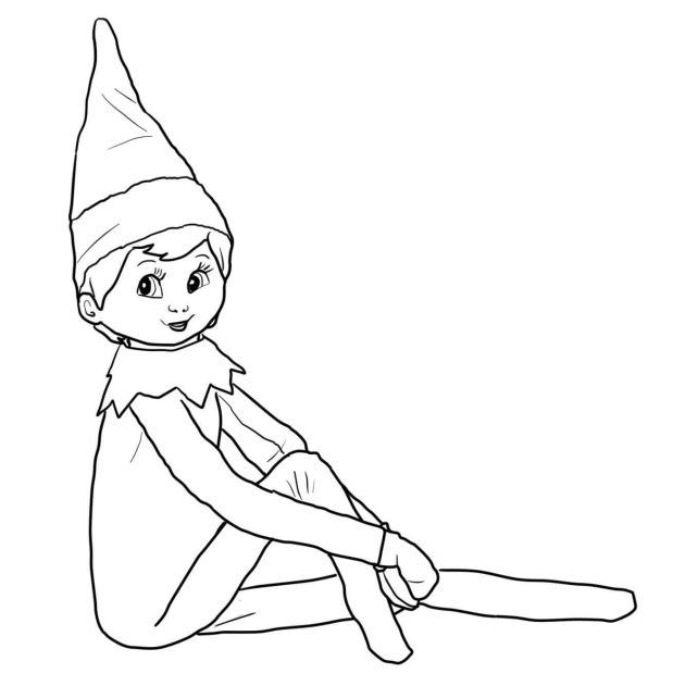 elf on the shelf printable coloring pages elf on the shelf color pages free coloring pages printable the pages elf shelf coloring on