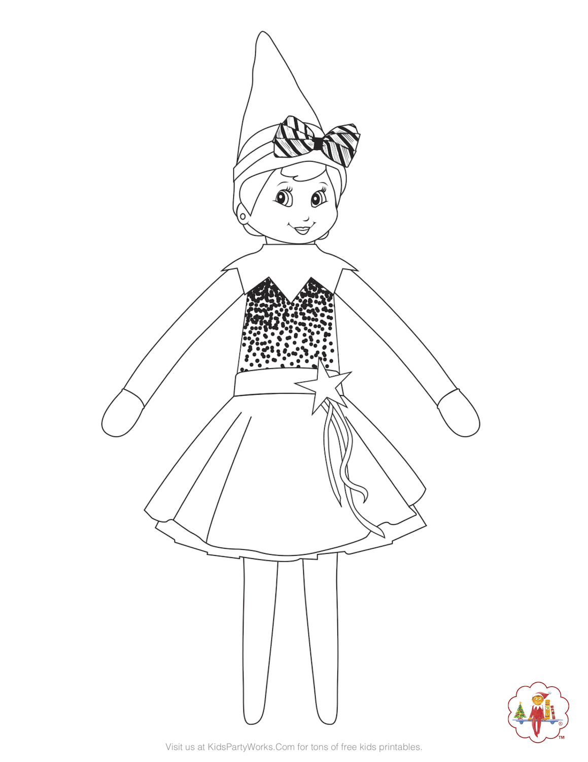 elf on the shelf printable coloring pages little lids siobhan coloring shelf the elf printable on pages