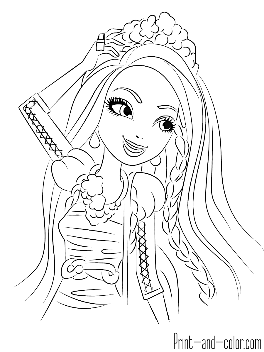 ever after coloring pages ever after high coloring pages download and print ever ever after pages coloring