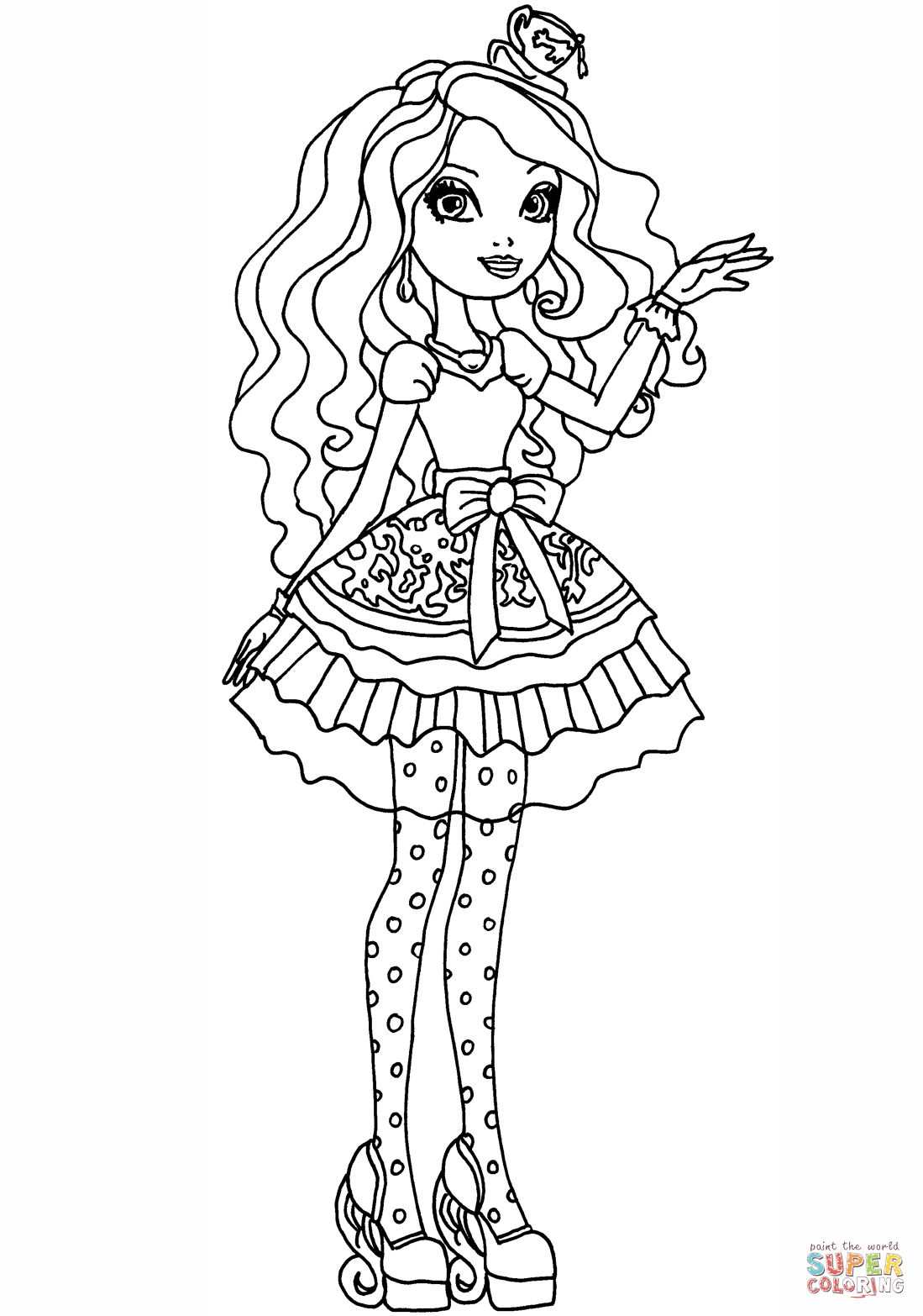 ever after coloring pages ever after high lizzie hearts coloring pages download coloring ever after pages