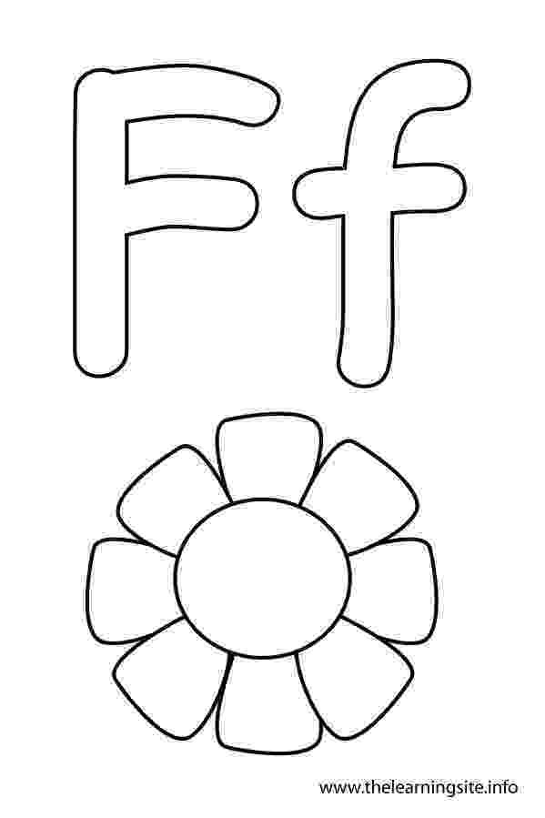 f is for flower alphabet flash cards coloring pages download and print for for is f flower