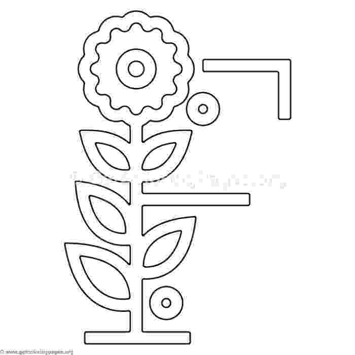 f is for flower clipart of a black and white floral capital letter f with is f for flower