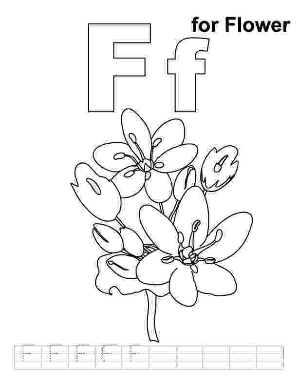 f is for flower f for flower coloring page with handwriting practice is f for flower