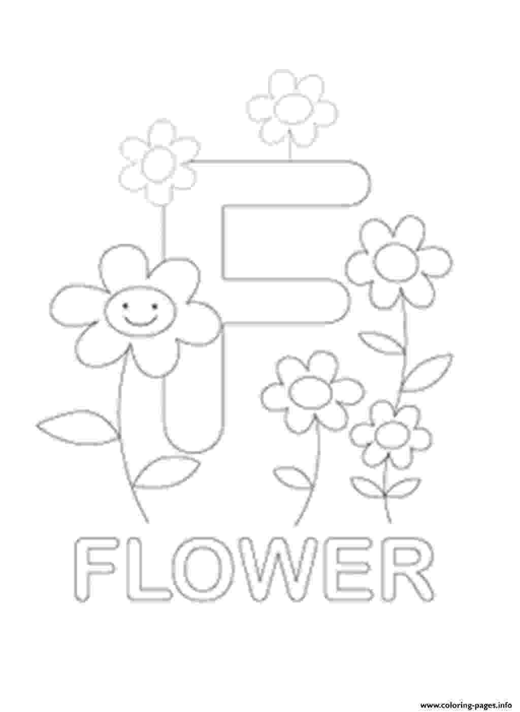f is for flower f for flower free alphabet s599e coloring pages printable f flower is for