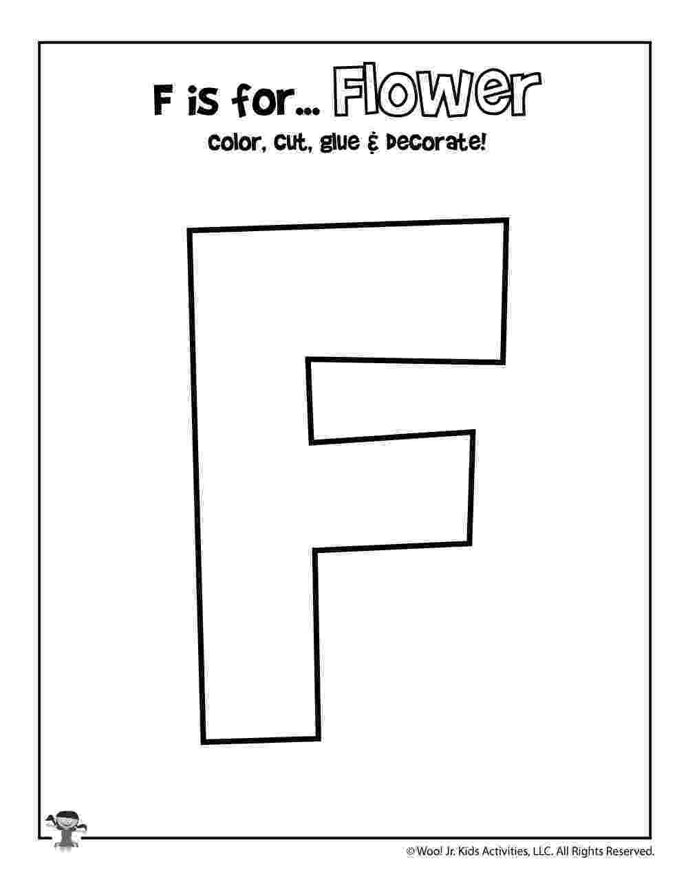 f is for flower f is for flower coloring craft activity woo jr kids f for flower is