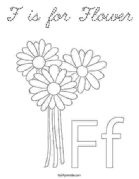 f is for flower f is for flower coloring page cursive twisty noodle f is for flower