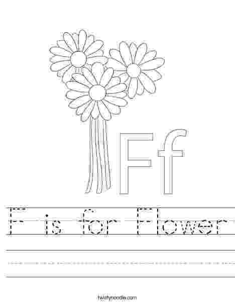 f is for flower f is for flower worksheet twisty noodle f flower is for