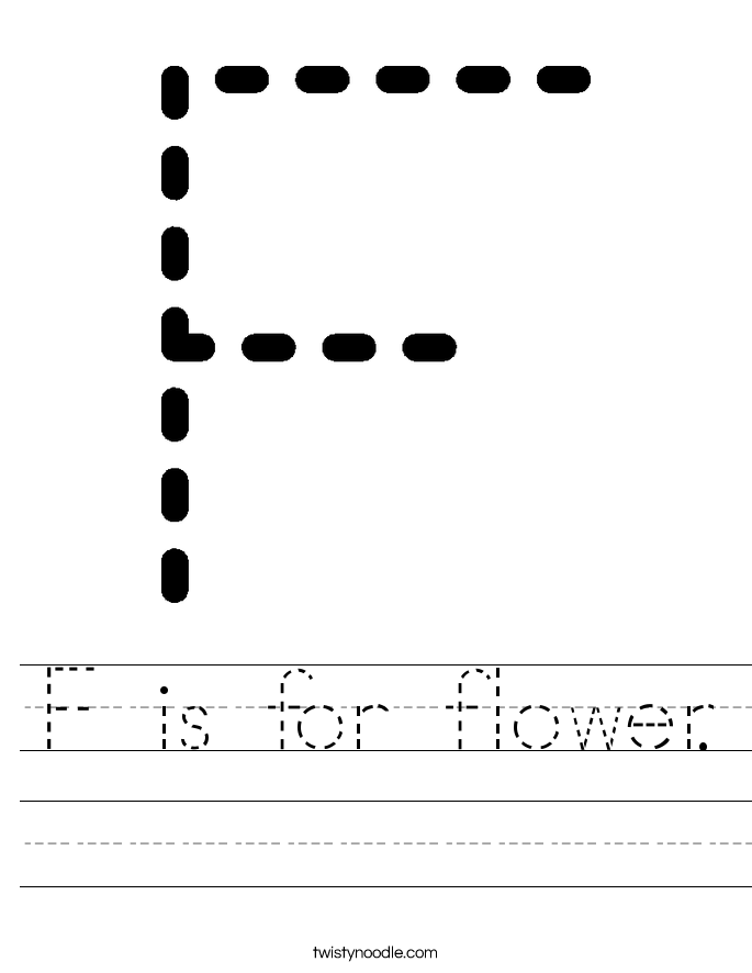 f is for flower f is for flower worksheet twisty noodle flower for f is