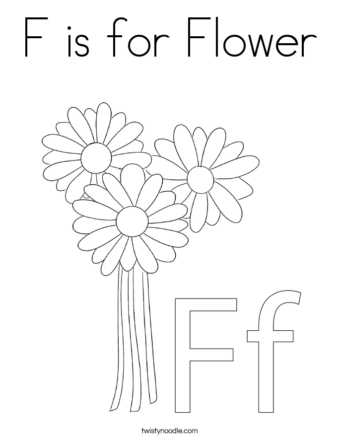 f is for flower letter f is for flower coloring page free printable for flower f is