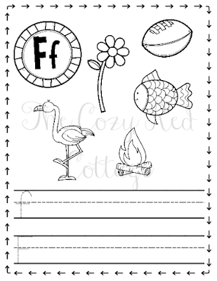 f is for flower the cozy red cottage letter f is for flower printable is flower f for