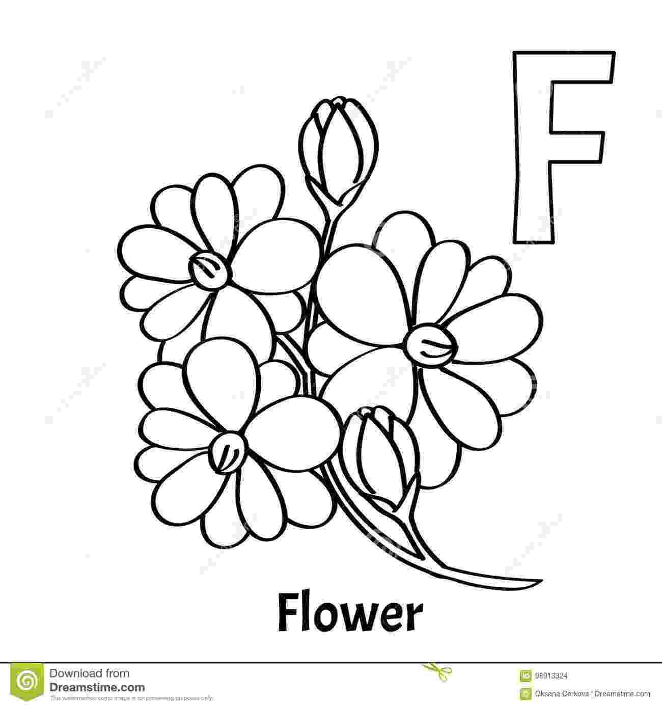 f is for flower vector alphabet letter f coloring page flower stock f for is flower