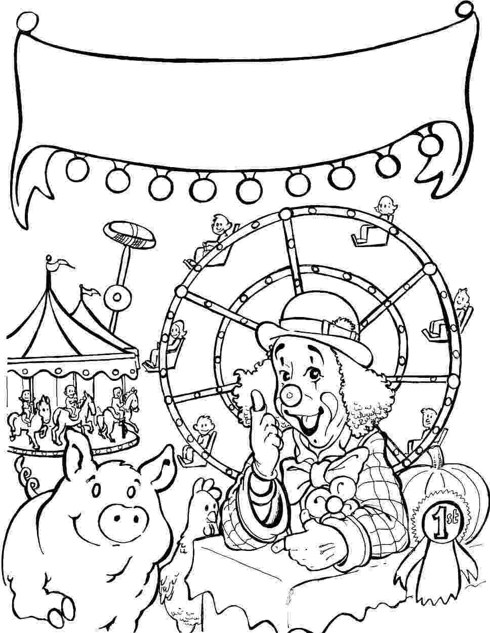 fair coloring pages coloring page carnival county fair county fair crafts fair pages coloring