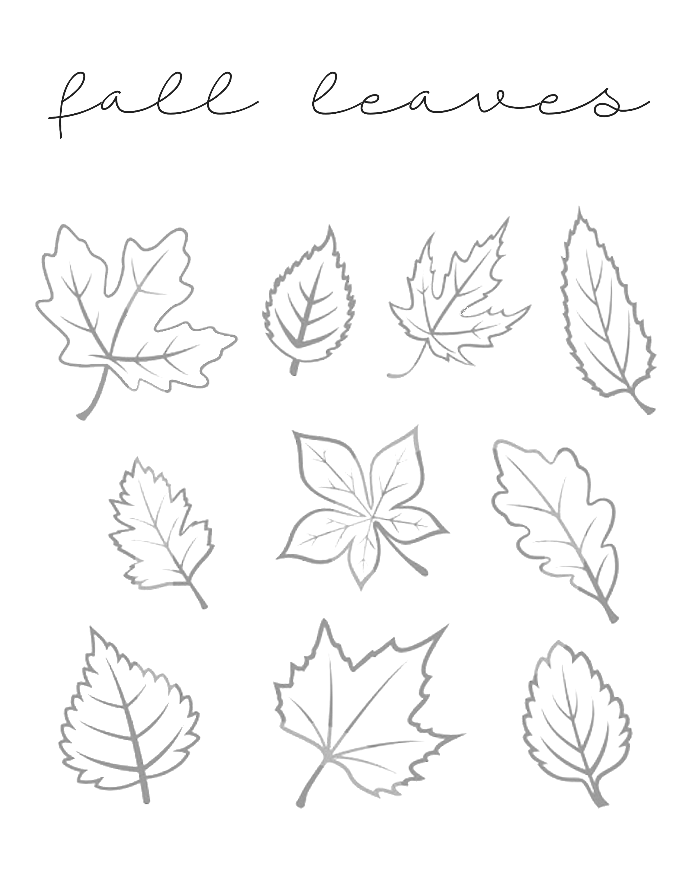 fall leaves print out fall leaves printables our kid things leaves fall out print