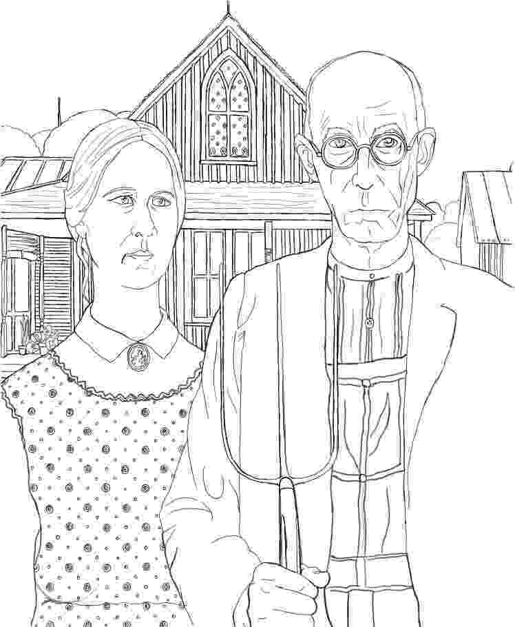 famous artists for kids coloring pages american gothic coloring page grant wood coloring famous kids for pages artists coloring