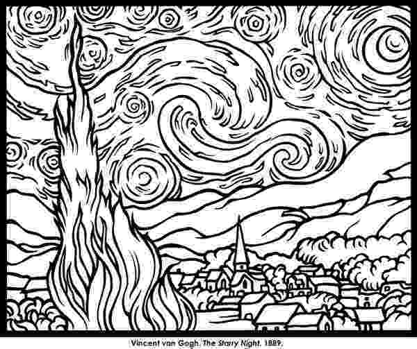 famous artists for kids coloring pages kids color van gogh paintings art teaching famous for kids artists pages coloring