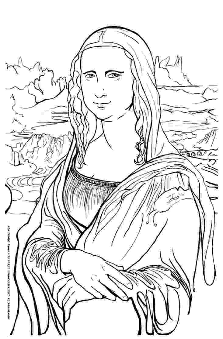 famous artists for kids coloring pages mona lisa coloring page leonardo da vinci kids coloring for famous pages artists coloring kids