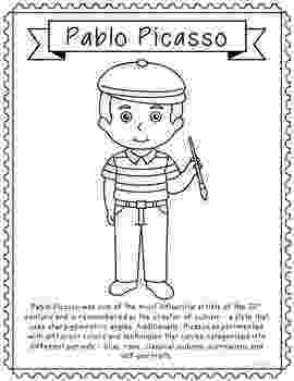 famous artists for kids coloring pages pablo picasso famous artist informational text coloring pages for famous artists kids coloring