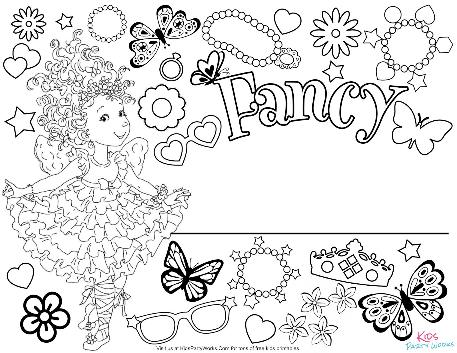 fancy nancy colouring pages fancy nancy clancy coloring page drawing 5 nancy pages colouring fancy
