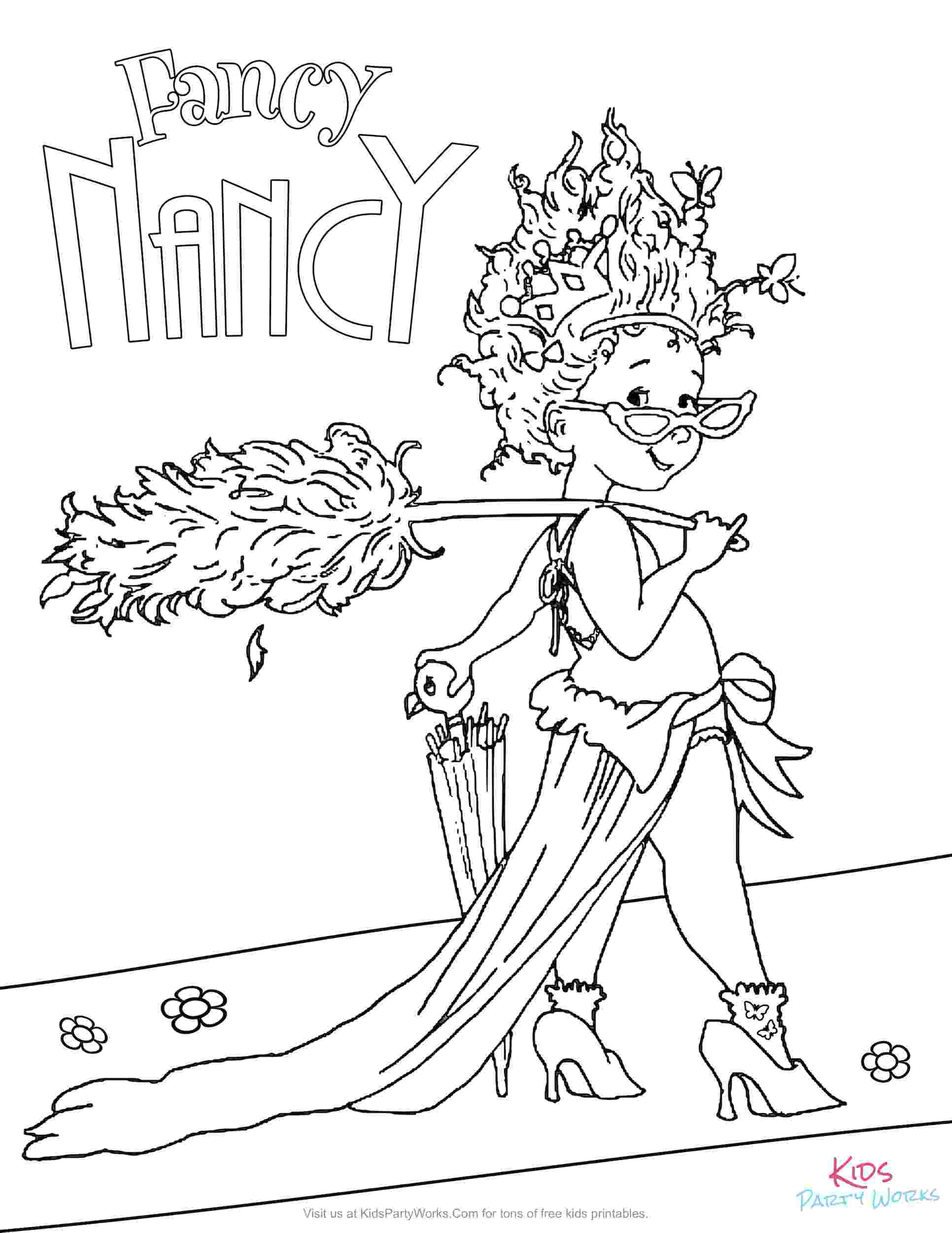 fancy nancy colouring pages fancy nancy party colouring fancy nancy pages