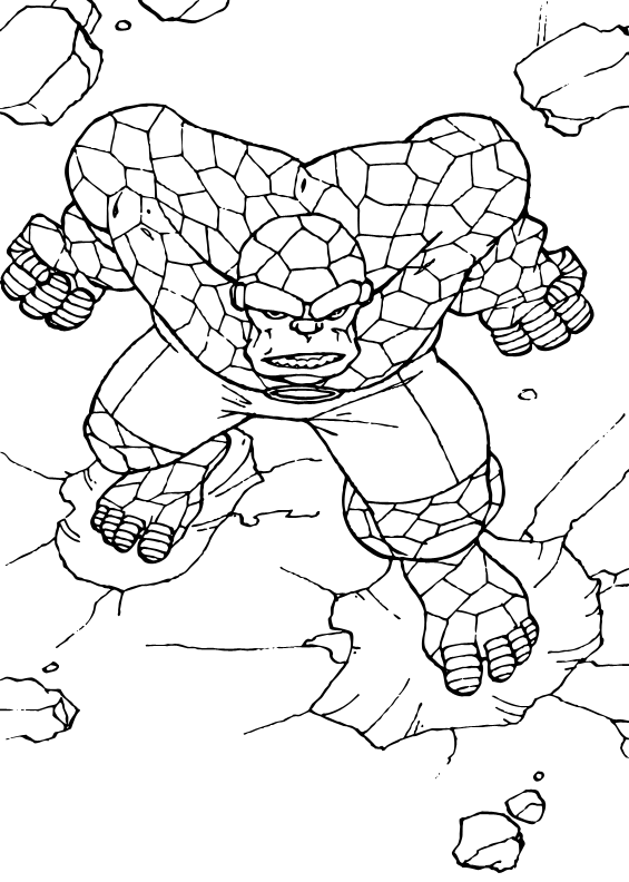 fantastic 4 coloring pictures coloring pages fantastic four coloring page 15 cartoons pictures coloring 4 fantastic