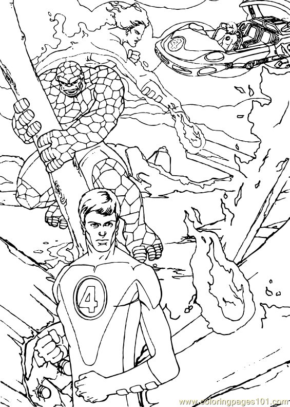 fantastic 4 coloring pictures coloring pages fantastic four coloring page 4 cartoons coloring fantastic pictures 4