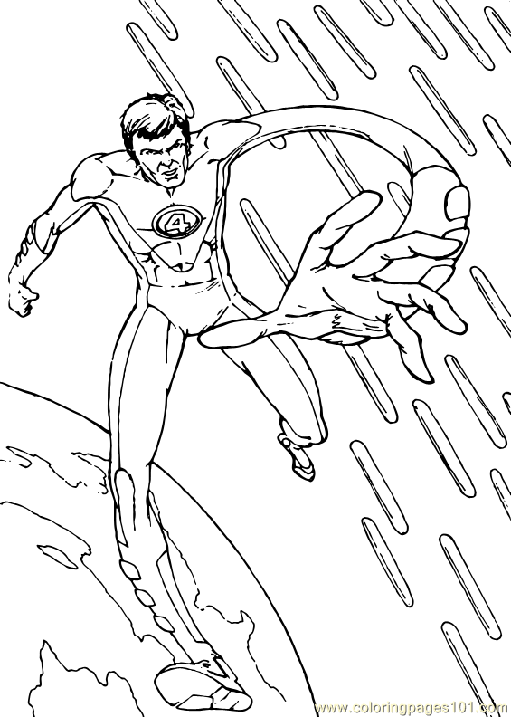 fantastic 4 coloring pictures coloring pages fantastic four coloring page 6 cartoons 4 coloring fantastic pictures