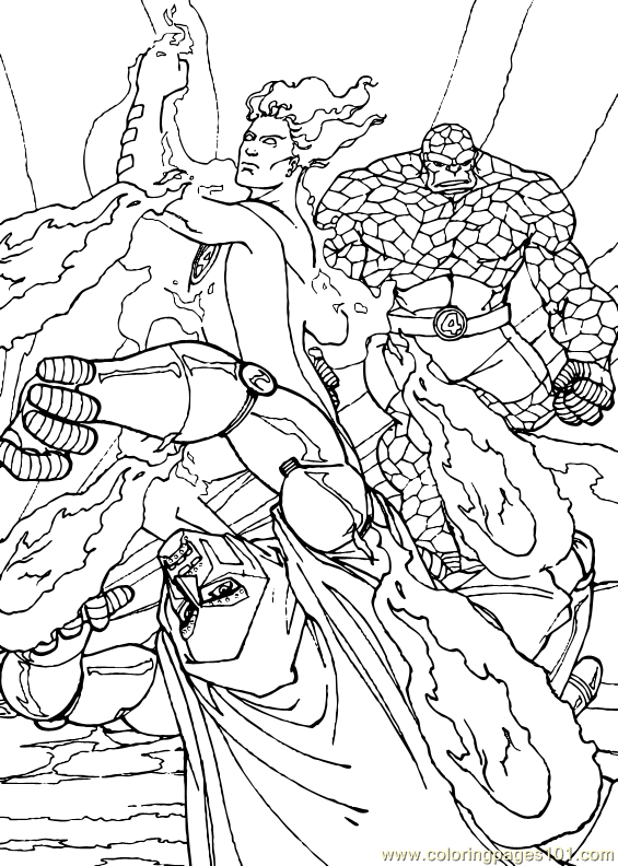 fantastic 4 coloring pictures coloring pages fantastic four coloring page 9 cartoons coloring fantastic 4 pictures