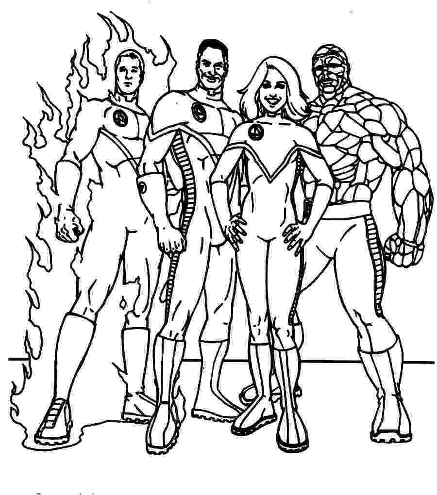 fantastic 4 coloring pictures fantastic 4 coloring pages download and print for free 4 coloring pictures fantastic