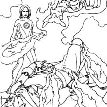 fantastic 4 coloring pictures fantastic four coloring pages 63 free superheroes coloring 4 fantastic pictures