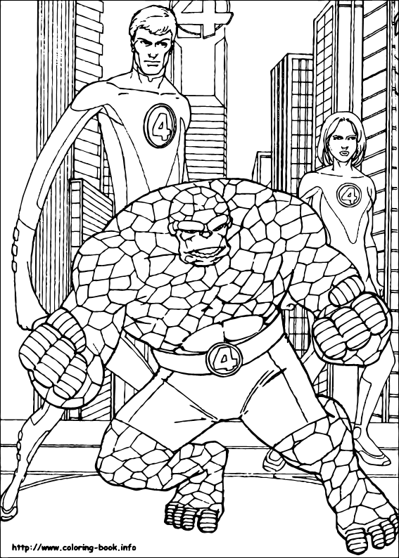 fantastic 4 coloring pictures fantastic four coloring pages to download and print for free coloring fantastic pictures 4