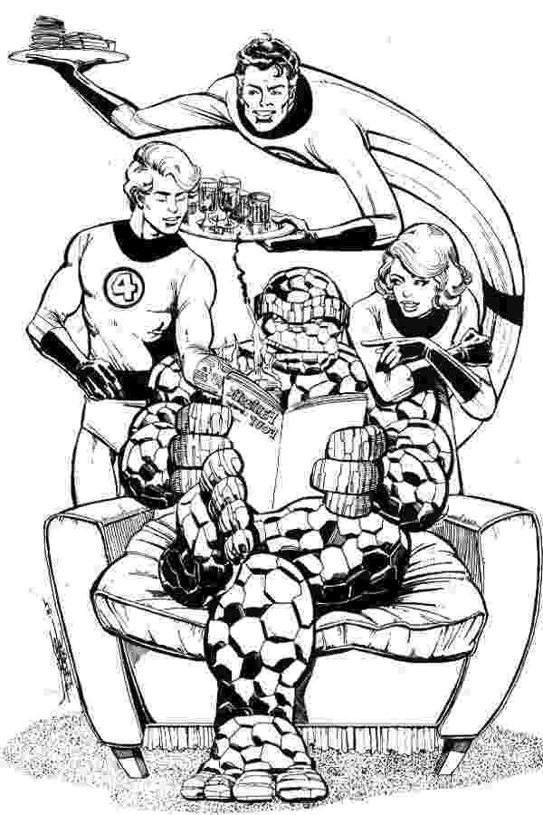 fantastic 4 coloring pictures fantastic four in new york coloring pages hellokidscom coloring 4 pictures fantastic