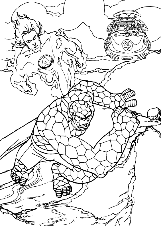 fantastic 4 coloring pictures human torch and the thing coloring pages hellokidscom fantastic pictures 4 coloring