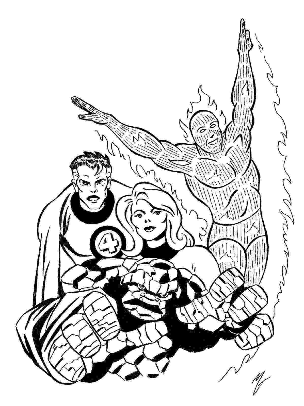 fantastic 4 coloring pictures invisible woman 17 superheroes printable coloring pages fantastic coloring pictures 4