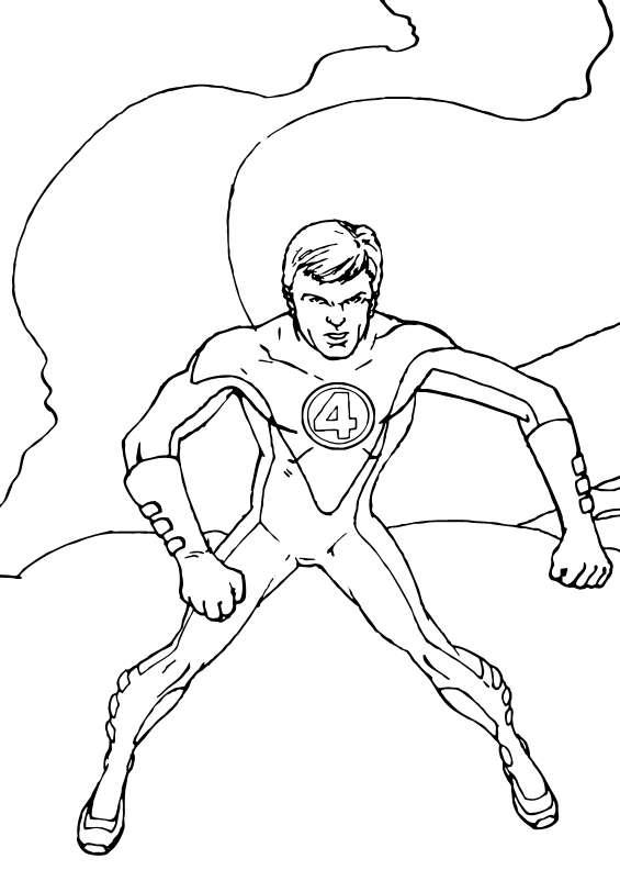 fantastic 4 coloring pictures mr fantastic to the rescue coloring pages hellokidscom 4 fantastic pictures coloring