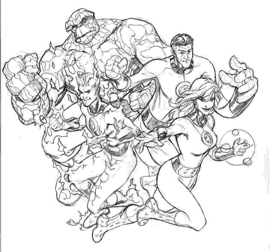fantastic 4 coloring pictures new york heroes coloring pages hellokidscom 4 pictures coloring fantastic