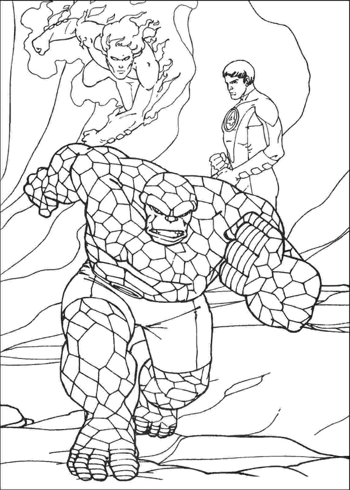 fantastic 4 coloring pictures the fantastic four coloring pages fantastic 4 coloring pictures