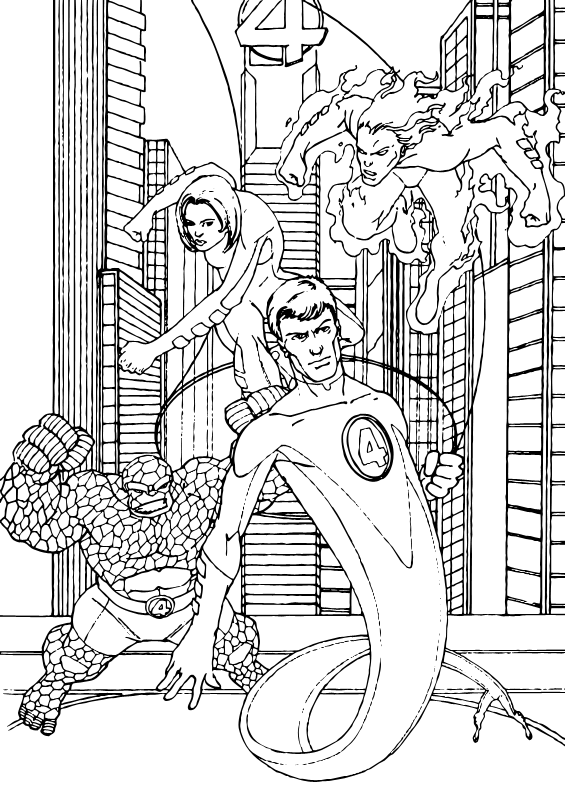 fantastic 4 coloring pictures the thing coloring pages hellokidscom 4 pictures fantastic coloring