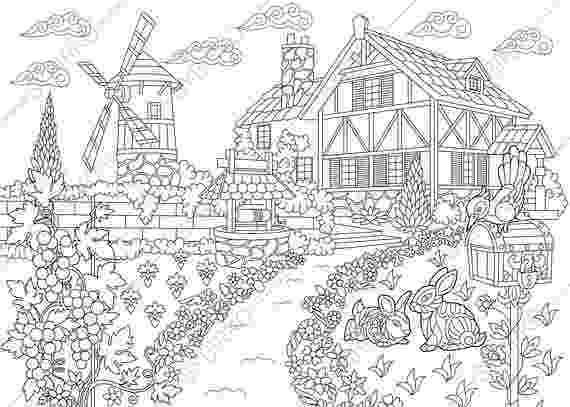farm house coloring pages coloring pages for adults rural countryside farm mansion coloring pages farm house
